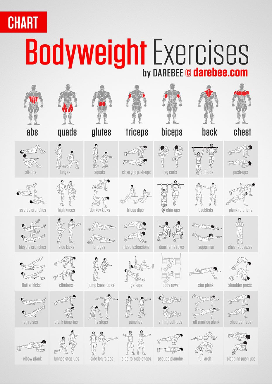 Bodyweight Exercises Target Every Part Of Your Body Darebee By Neila Rey
