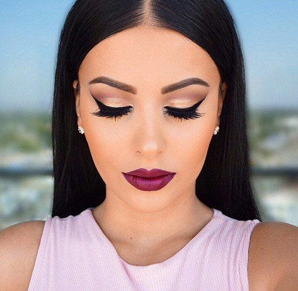Black Girls Burgundy Lipstick Google Search With Images Hair
