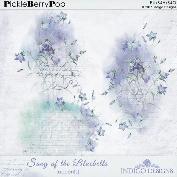 Song Of The Bluebells Accent Overlays By Indigo Designs