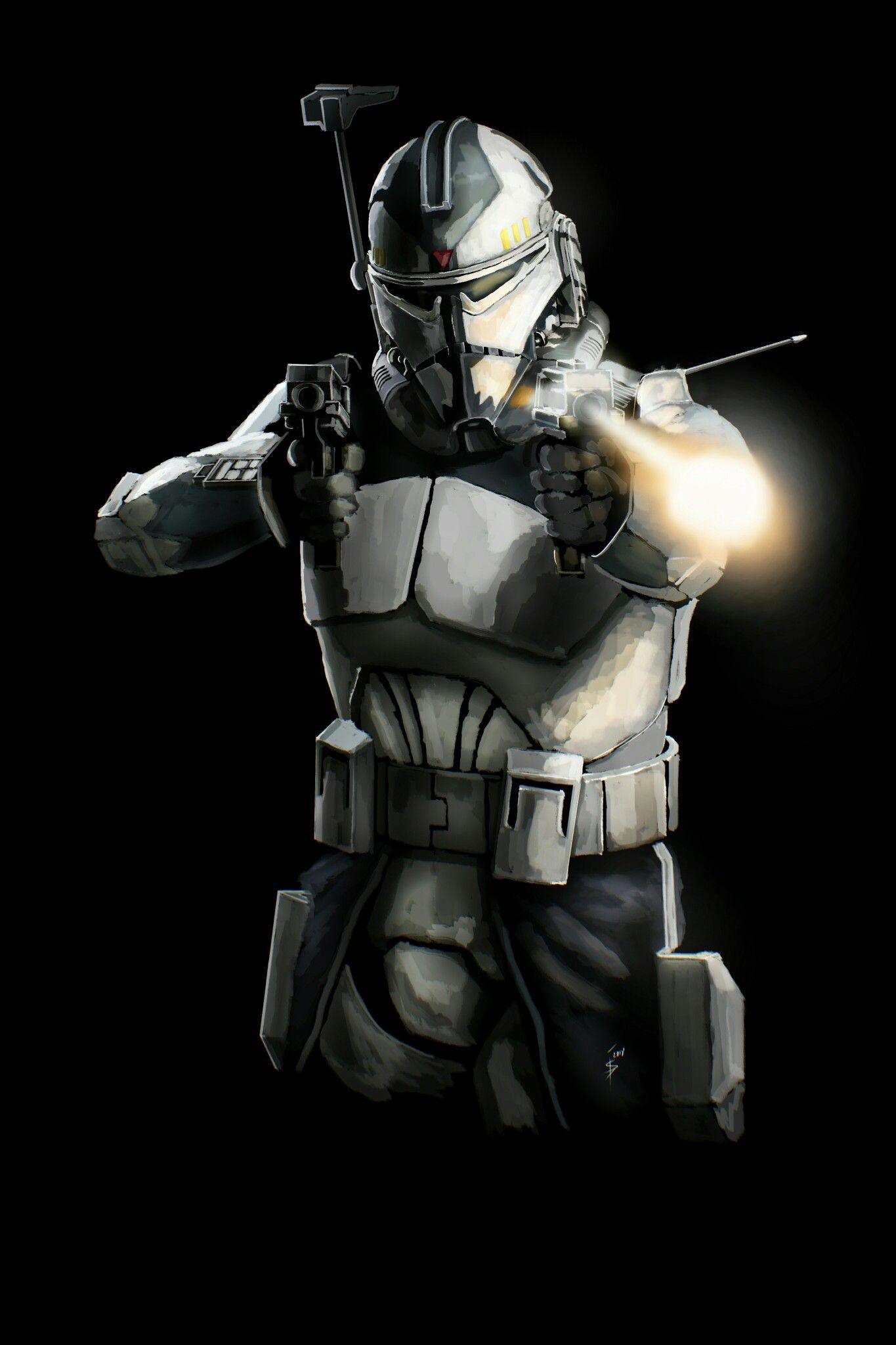 Commander Wolffe Action Star Wars Trooper Star Wars Artwork Star Wars Wallpaper