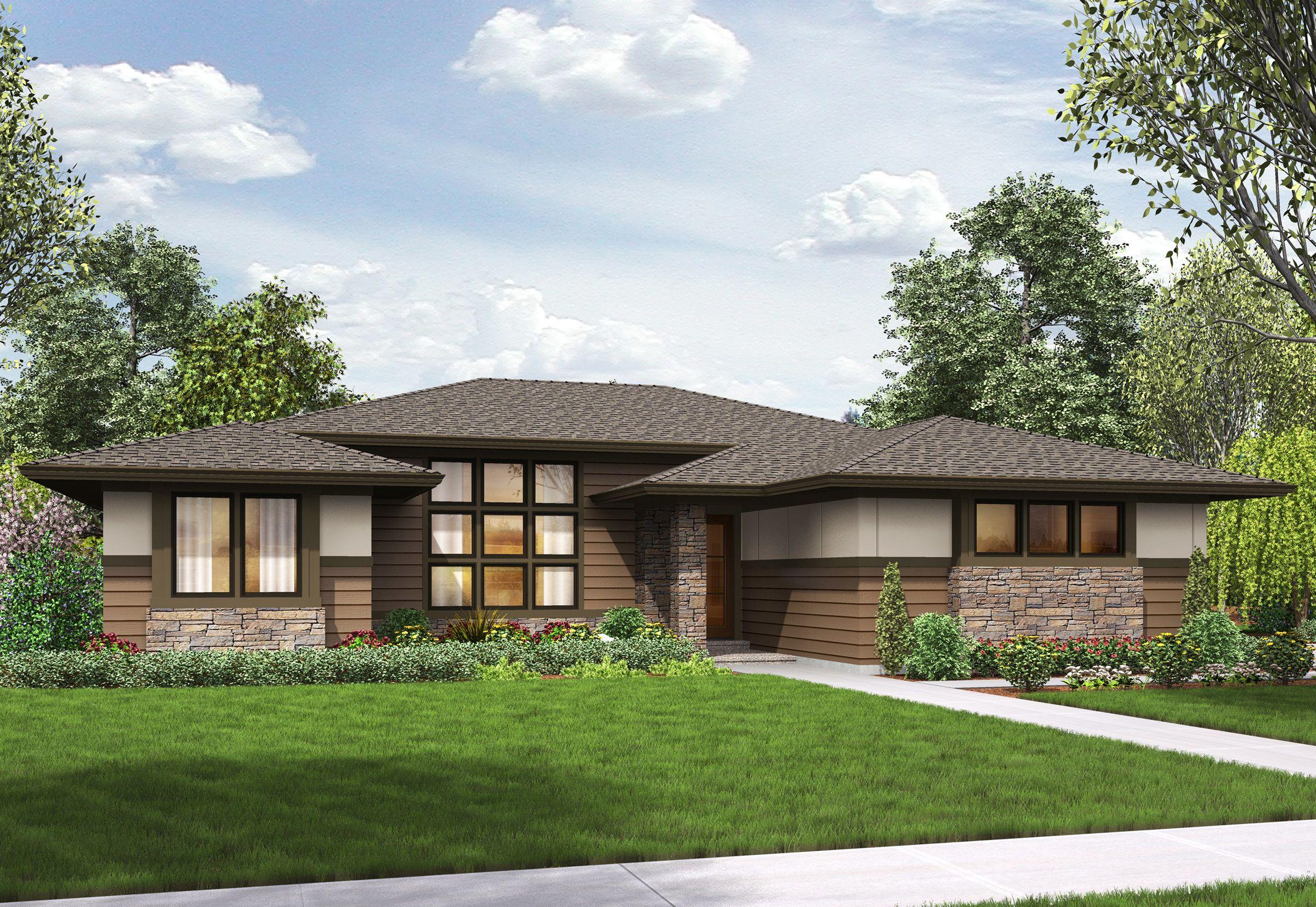 Plan 69603am 3 Bed Modern Prairie Ranch House Plan Modern
