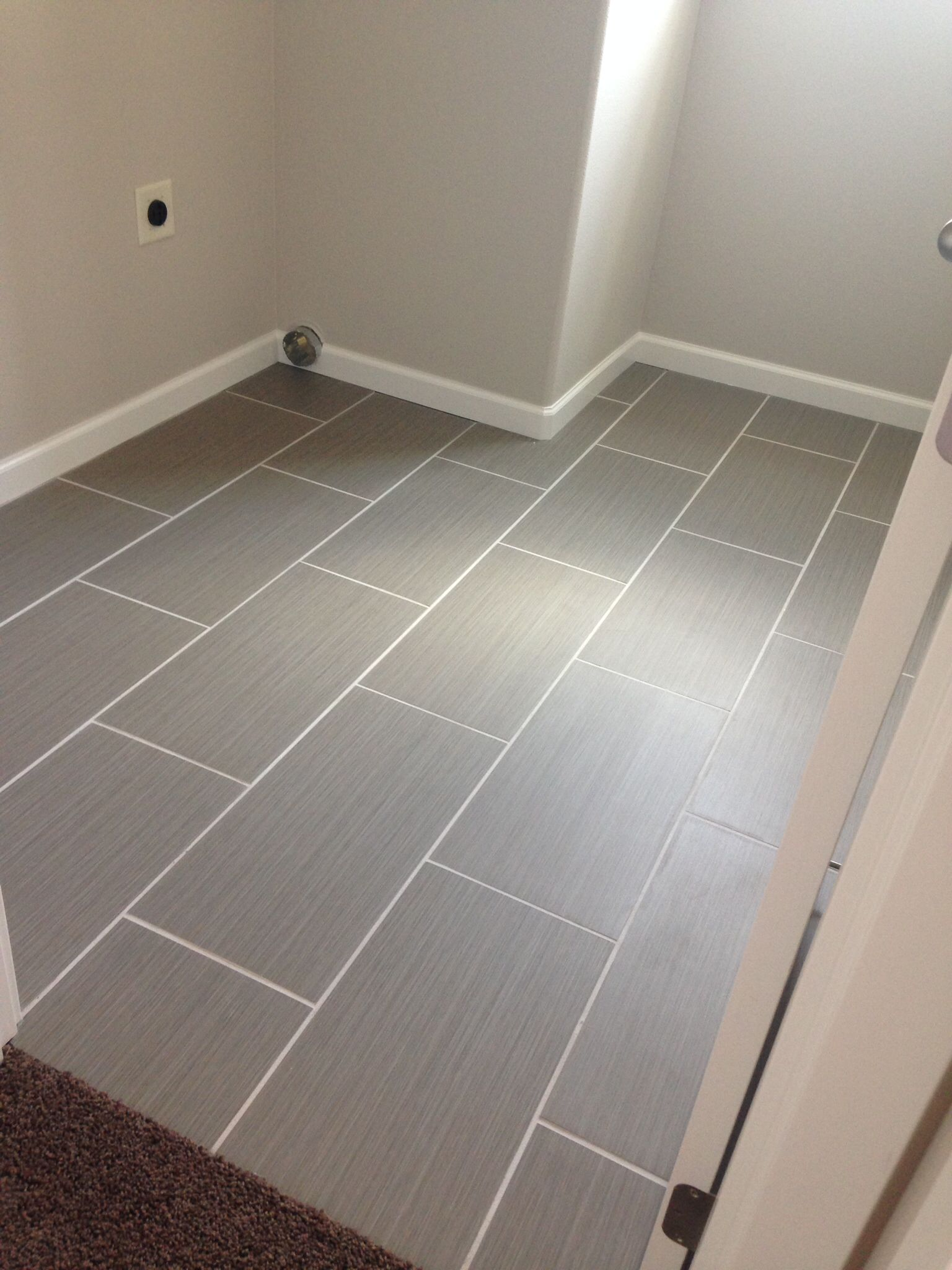 Gray tile from costco 721343 neo tile 1 39 2 39 porcelain tile for Grey wood floor bathroom