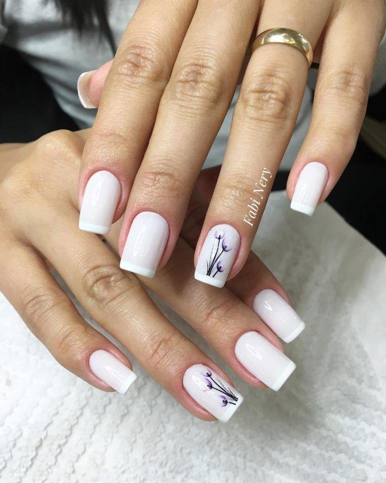 26 Modelos de Unhas Decoradas Simples | Manicura de uñas, Decorados para  uñas cortas, Uñas decoradas