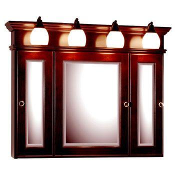 Medicine Cabinets 36 Inch Rounded Profile Tri View Medicine