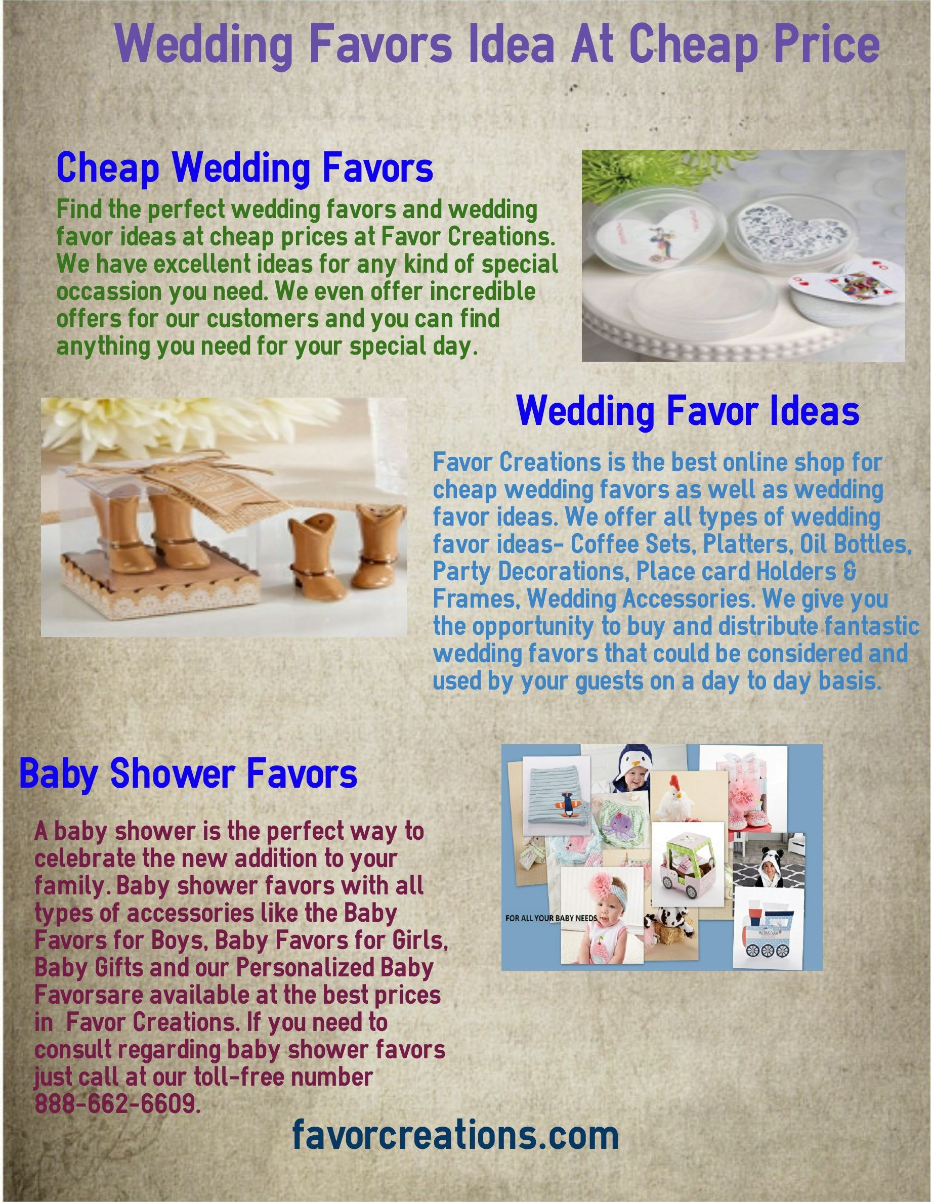 Favor Creations is the best online shop for cheap wedding favors as ...