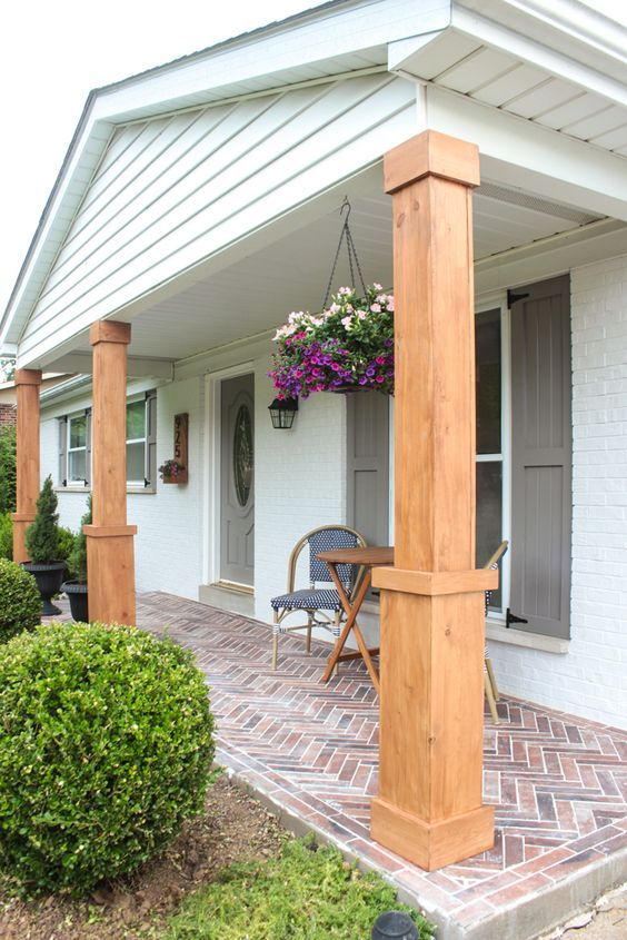 Front Porch Makeover With Behr Paint Williamsburg Home Porch