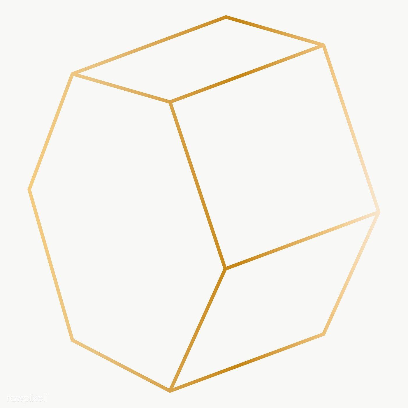 Minimal Gold Octagonal Prism Shape Transparent Png Free Image By Rawpixel Com Katie Shapes 3d Shapes For Kids Prism