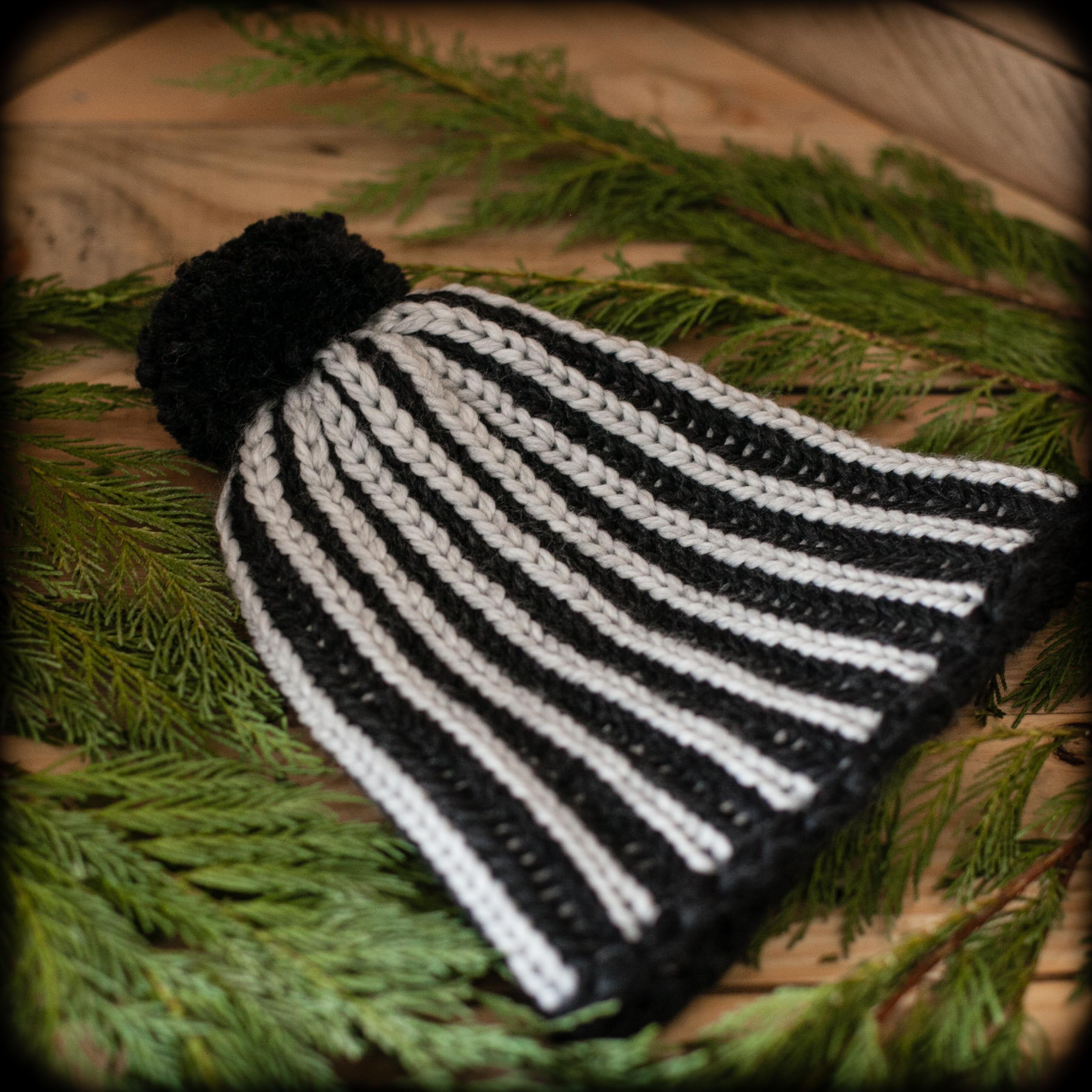 Loom Knit Brioche Hat PATTERN, Ski Cap, Stylish, Ladies, Teen sizes ...