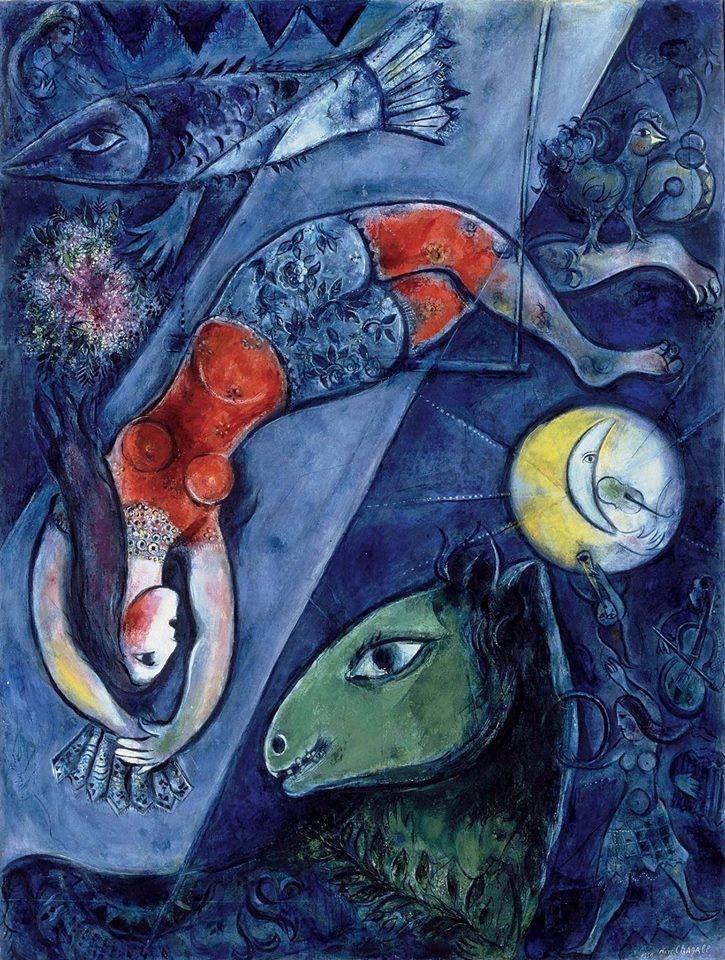 """Marc Chagall. """" Il Circo Blu"""" 1952"""