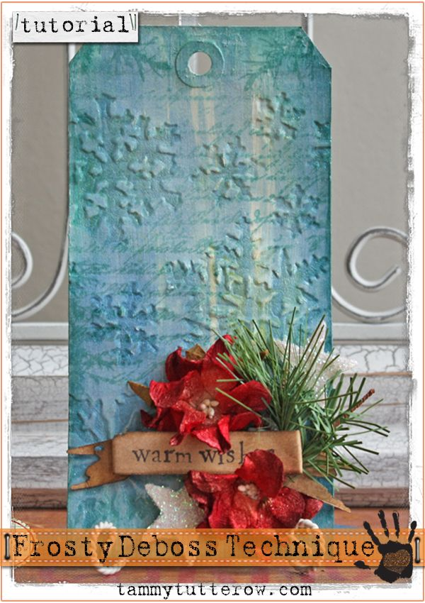 Tutorial Frosty De Boss With Images Crackle Painting Tim Holtz Tags Handmade Tags