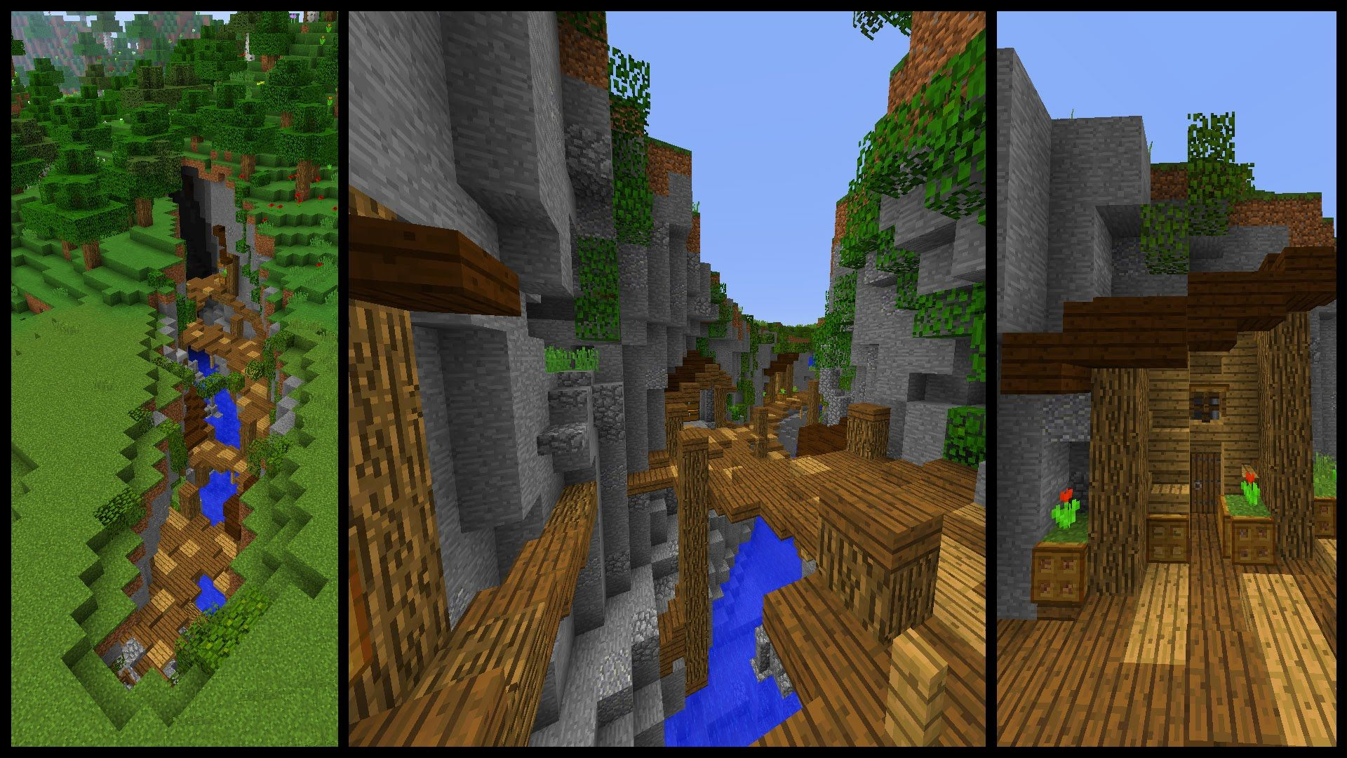 How To Make A Minecraft Ravine Town Today We Will Be Using