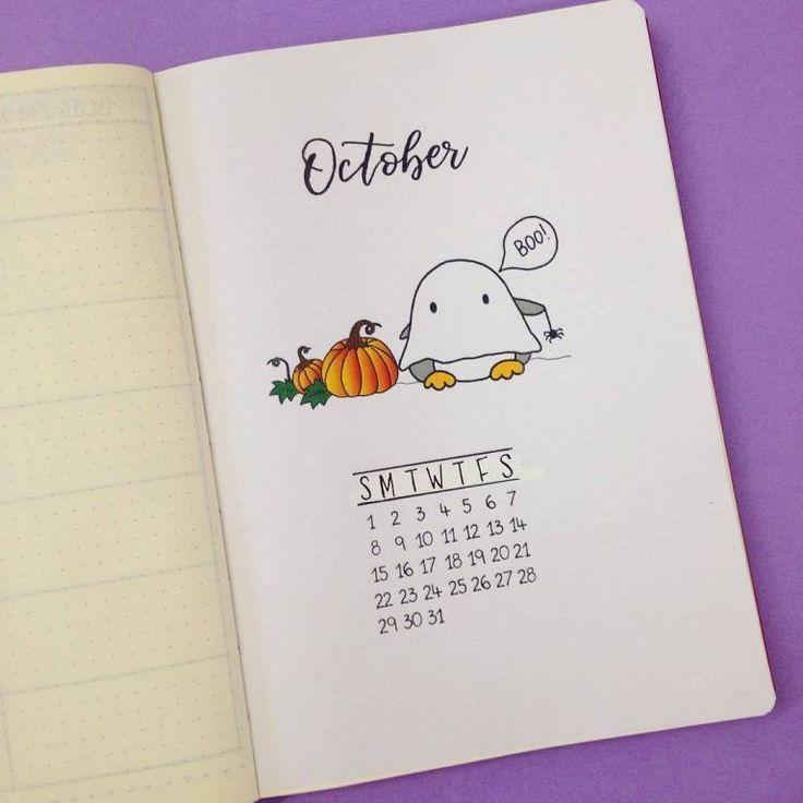 20+ Scary Halloween Bullet Journal Page Ideas   ElizabethJournals