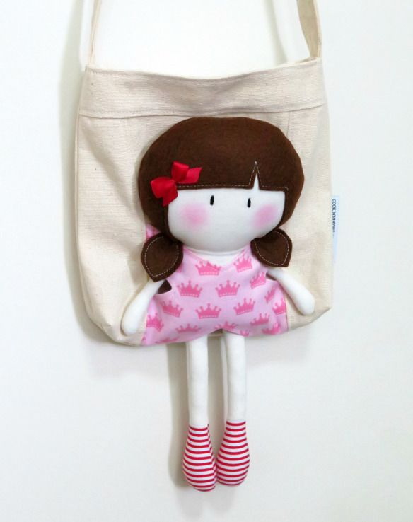 My Teeny-Tiny Doll® Hannah & Carry-Me Tote Bag Set