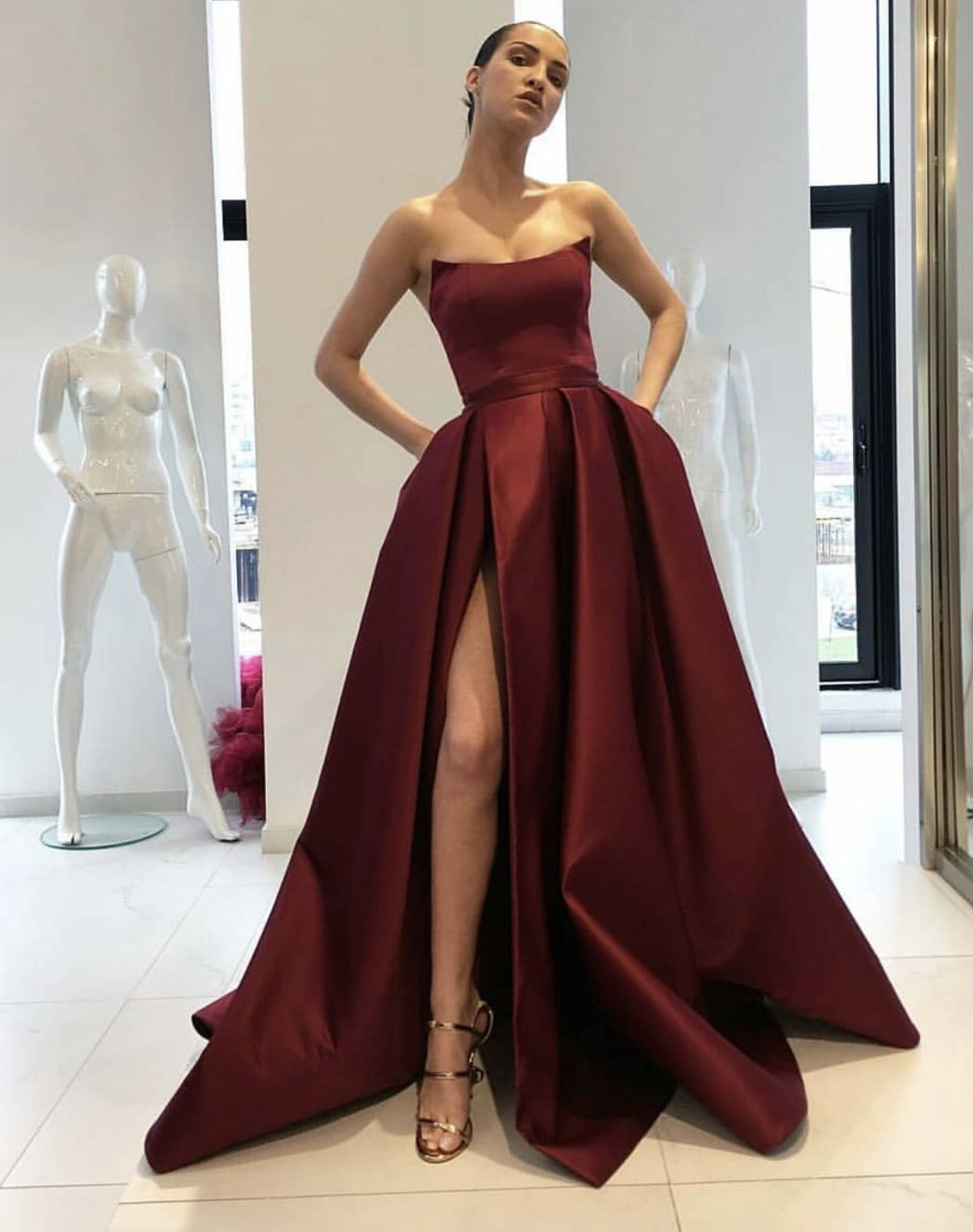 Formal Dresses Long Strapless Corset
