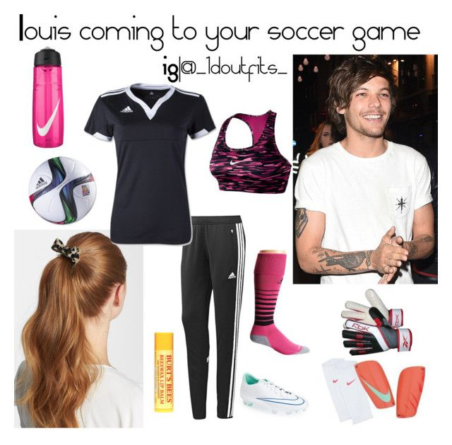 """""""Louis"""" by jessyrbug ❤ liked on Polyvore featuring L. Erickson, adidas, NIKE, Reebok and Burt's Bees"""