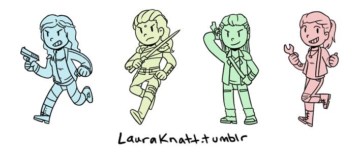 Clarke & Lexa & Octavia & Raven by lauraknatt