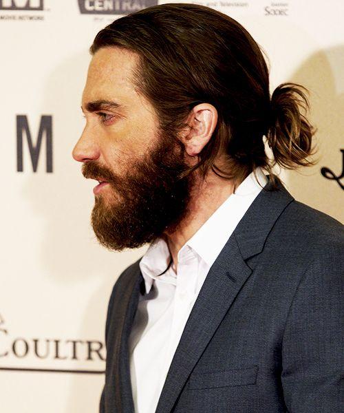 Jake Gyllenhaal Long Hair Google Search Beard Styles Man Bun Long Hair Styles