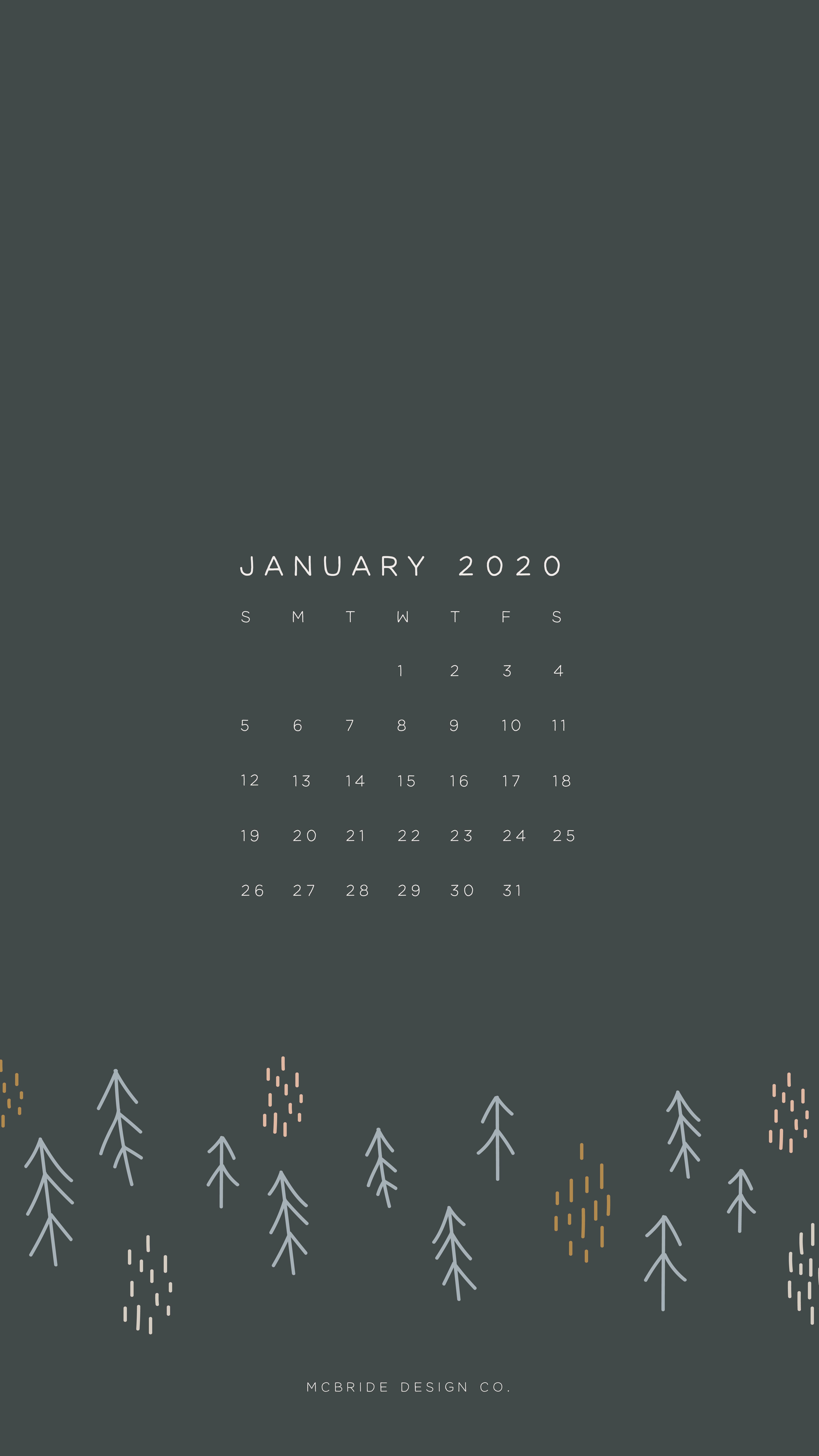 January 2020 Calendar Iphone Wallpaper Winter January Wallpaper Calendar Wallpaper