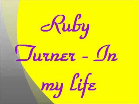 Ruby Turner - In my life