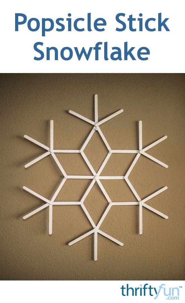 Making a Popsicle Stick Snowflake #popciclesticks