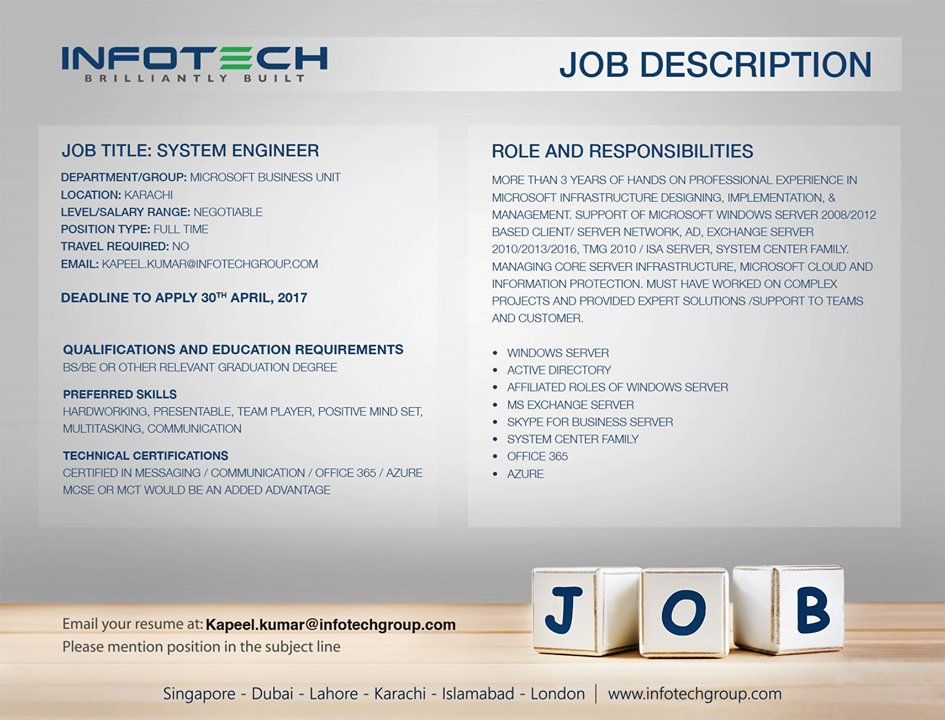 New #jobopening in #Toronto Bike Courier Apply today! https\/\/t - systems engineer job description