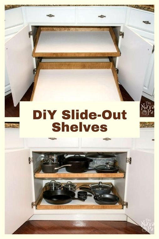 diy slide out shelves a husband and wife want more on kitchen shelves instead of cabinets id=20541