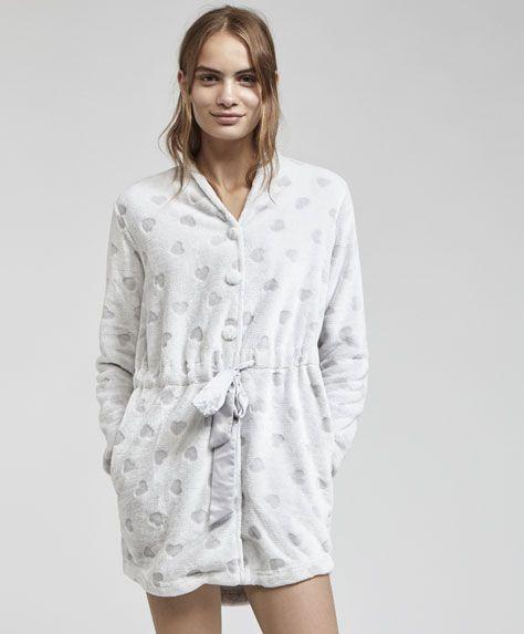 negozio online df917 82aca Oysho - Vestaglia cuori devoré | Pyjamas en 2019 | Pijama ...
