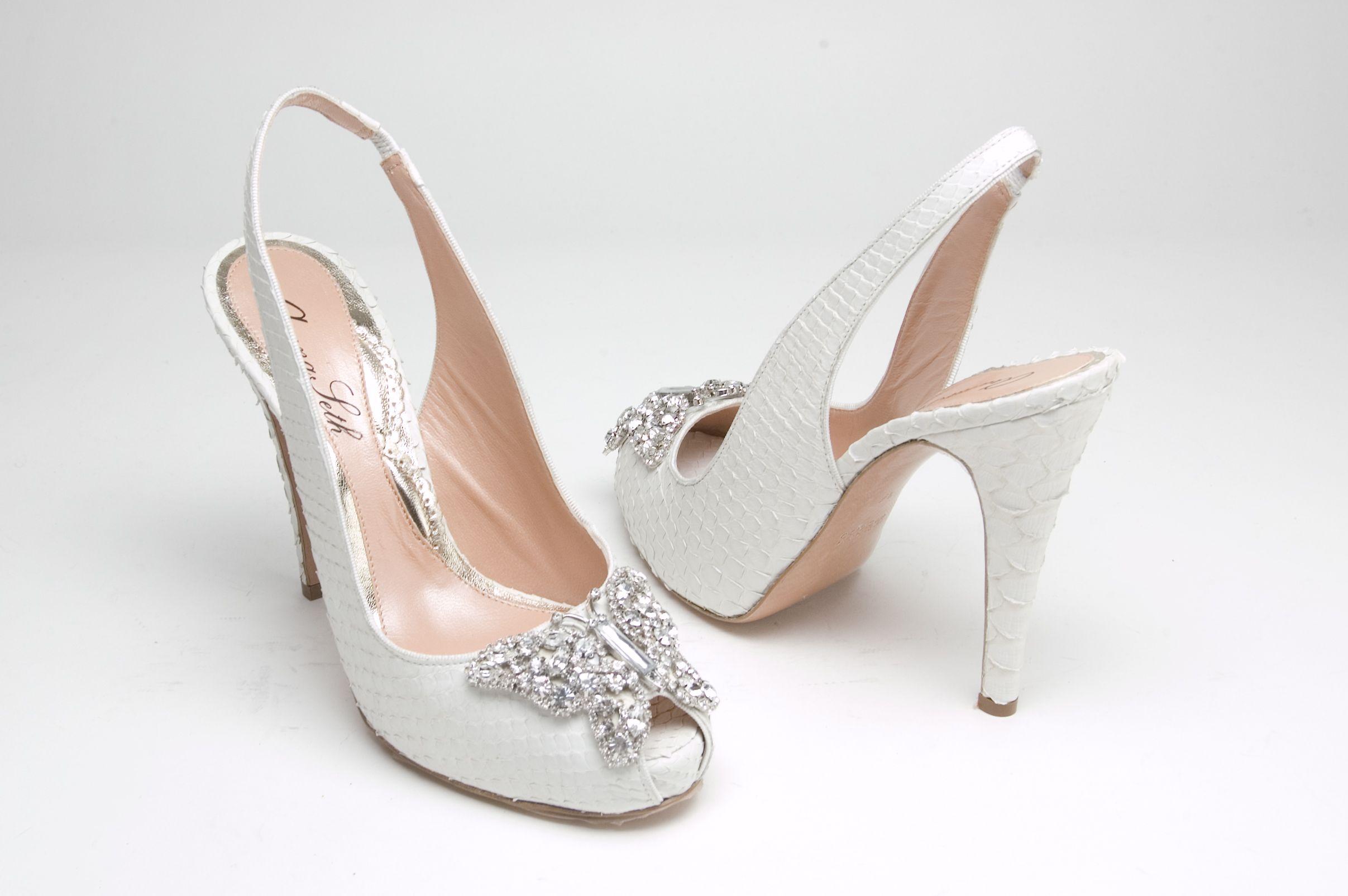 Aruna Seth Farafalla Snake Slingback Wedding shoes