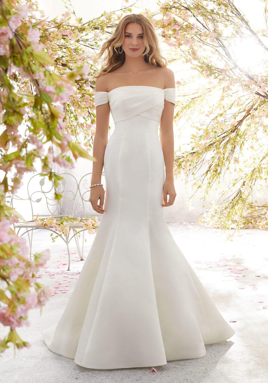 Louise Wedding Dress Morilee Wedding Dress Styles Fit And Flare Wedding Dress Wedding Dresses Satin