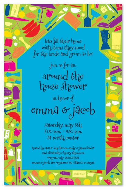 household shower decorations house full bridal shower invitations