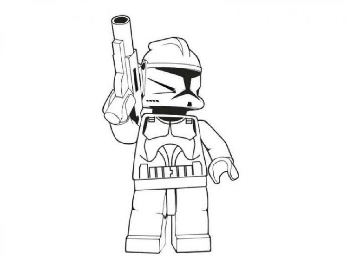 lego stormtrooper star wars coloring pages  lego