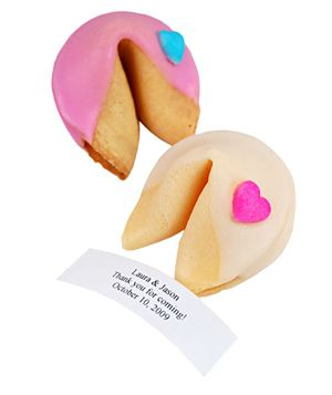Delicious Wedding Favors Personalized Fortune CookiesWedding