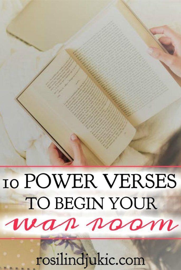 10 Powerful Verses You Need For Your War Room War Room Prayer Verses War Room
