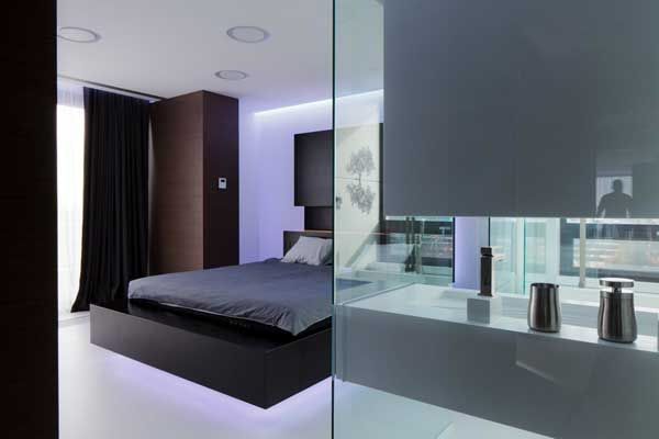 Apartment design famous interior designers as dark sliding curtain and bedroom glass ac apartment by square one wonderful romanian pent