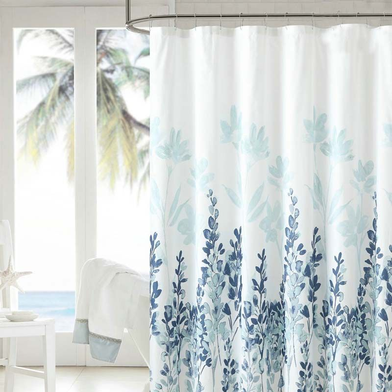 1 8m Waterproof Ink Painting Bathroom Shower Curtain Polyester