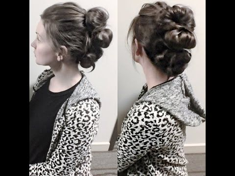 Quick Easy Big UpdoHairstyle YouTube Long Hair Dont Care - Big bun hairstyle youtube