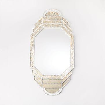 Peruvian Mirror Elongated Octagon Mirror Loft Style