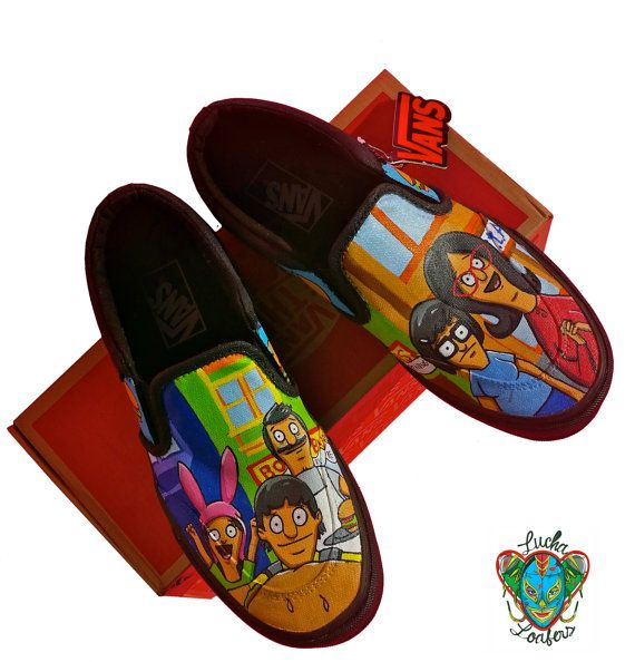 95289531c5 Women s Bob s Burgers Vans by LuchaLoafers on Etsy
