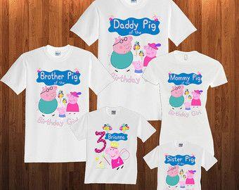 Peppa pig Birthday Shirt Custom personalized shirts by TeezGallery