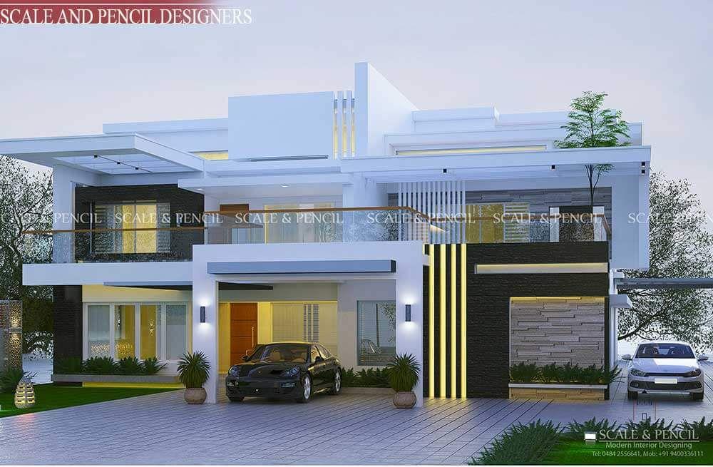 Top Home Design In Kochi Ernakulam Kerala New Model House House Architecture Design House Outside Design