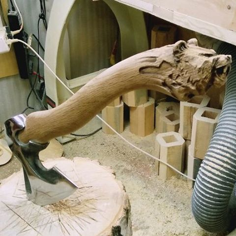Making an axe handle is an old skill from long before you could purchase a pre-finished handle from the hardware store. Back then, the axe head was handmade ...