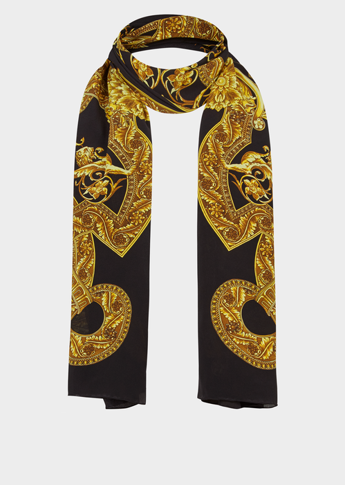 c2b776b8153 Barocco Istante Print Silk Stole - Versace Foulards & Scarves ...