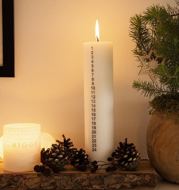 Kalenderlys dekoration - nem, enkel og super fin nordisk stil