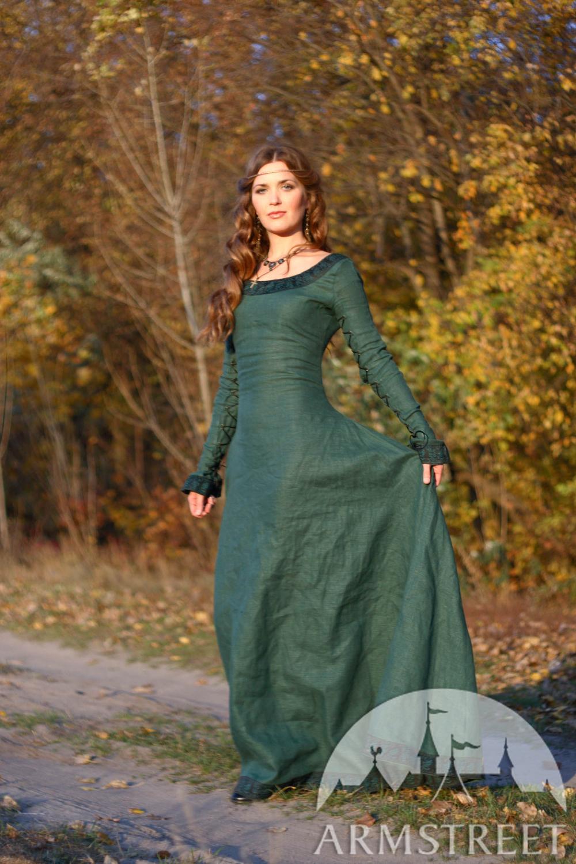 "Linen Dress ""Autumn Princess"" Medieval dress princess"