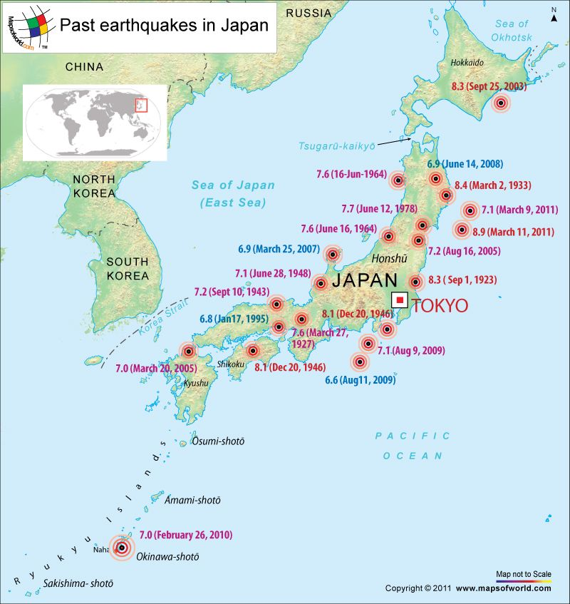 Past earthquakes in japan geography pinterest japan japan earthquake map showing the areas affected earthquake in japan and locations of all the major earthquakes of japan gumiabroncs Gallery