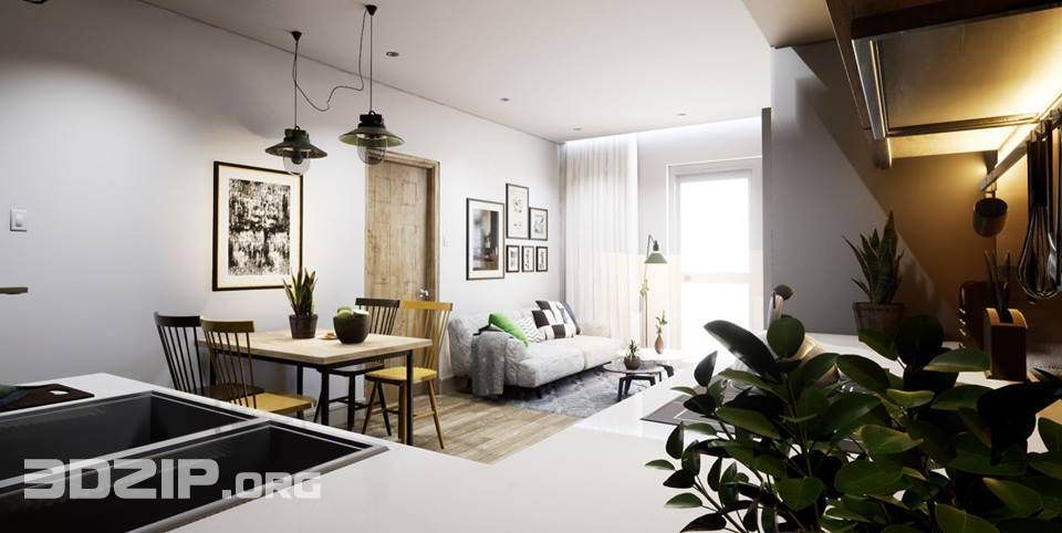 3d Interior Scene 5 Free Download With Images Home Decor