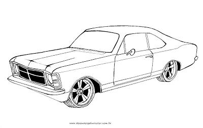 Desenho De Opala Desenho De Opala Tunado Para Colorir Carros