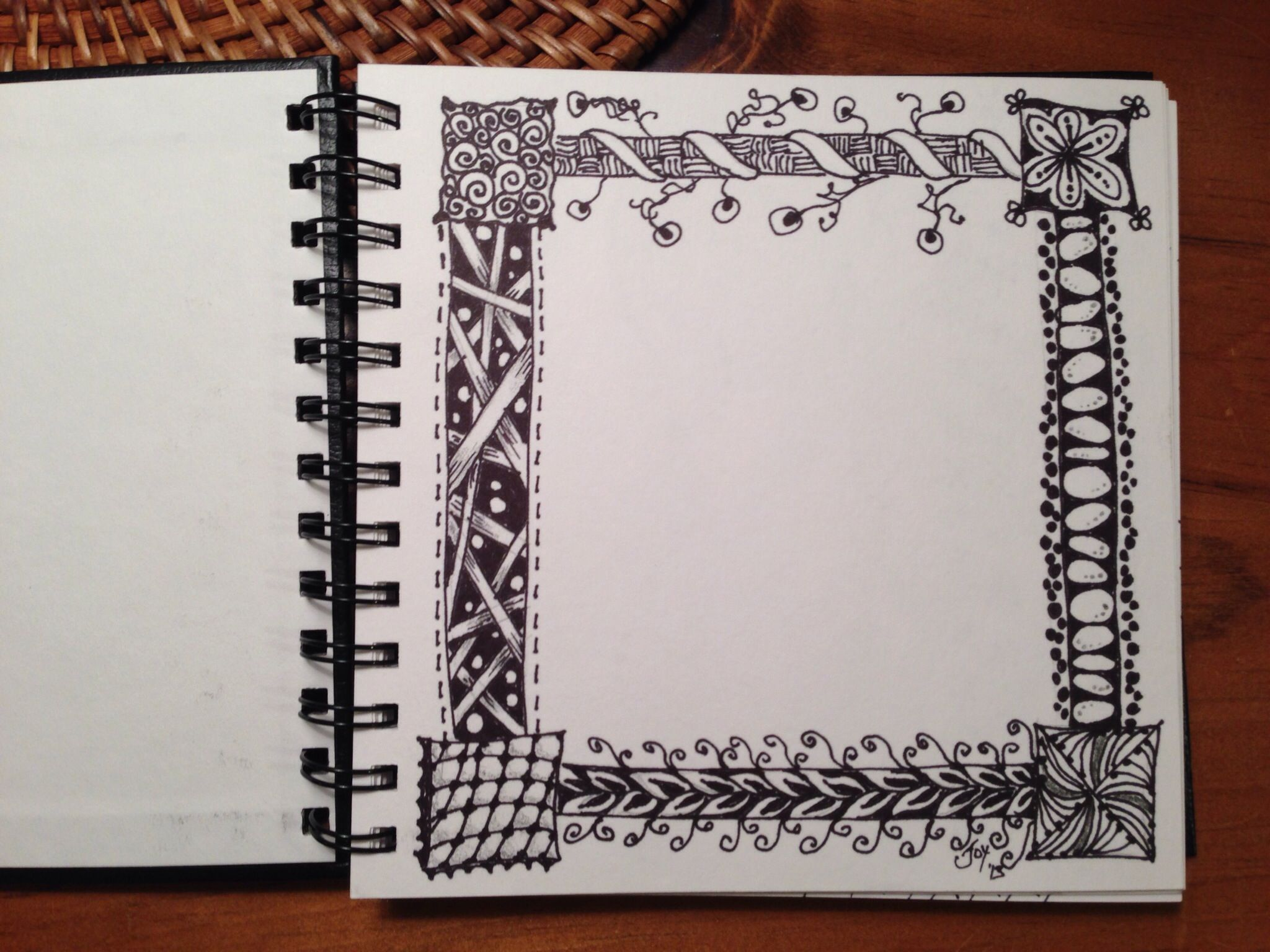 Joy\'s zentangle border | Doodle & Sketch | Pinterest | Marcos de ...