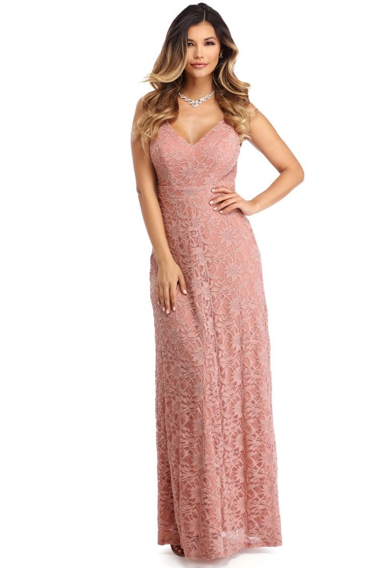 Amanda Pink Pretty In Lace Dress Hey There Pretty Girl You Look So Good In Lace Amanda Features A V Nec Womens Prom Dresses Prom Dresses Long Prom Dresses [ 1124 x 750 Pixel ]