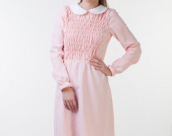 Pink Dress With White Collar September 2017